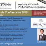 Ciclo de Conferencias 2016 – 1° Jornada